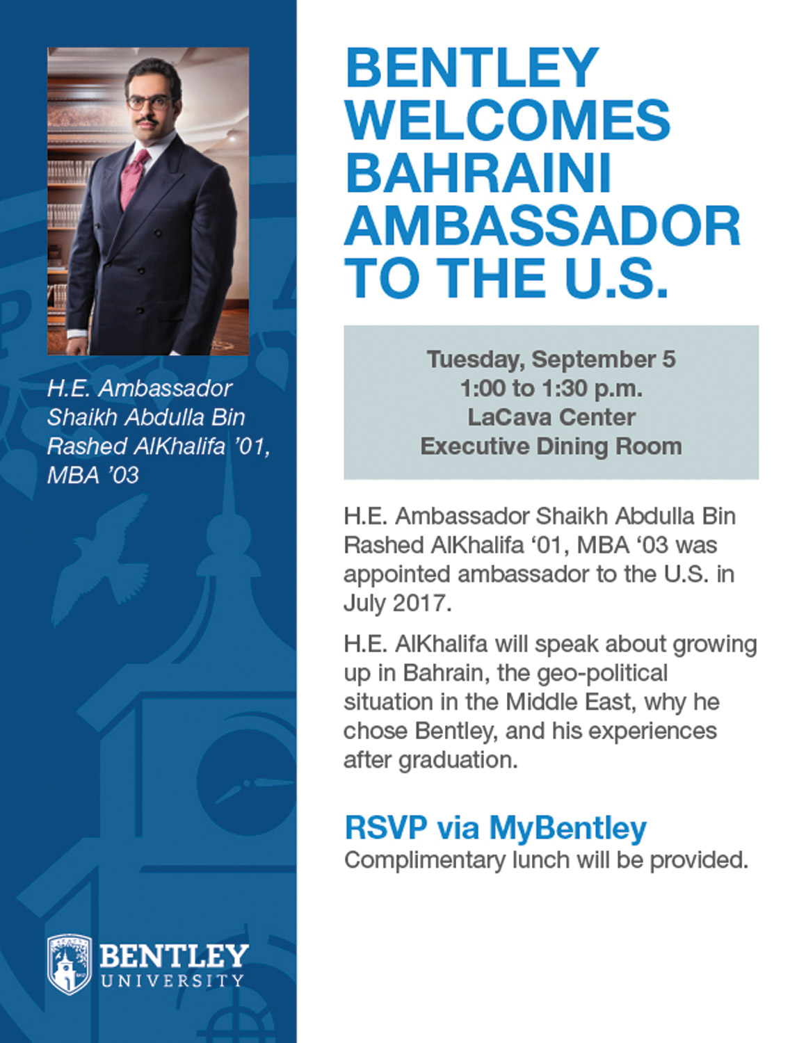 Bentley University Bahraini Ambassador Flyer large