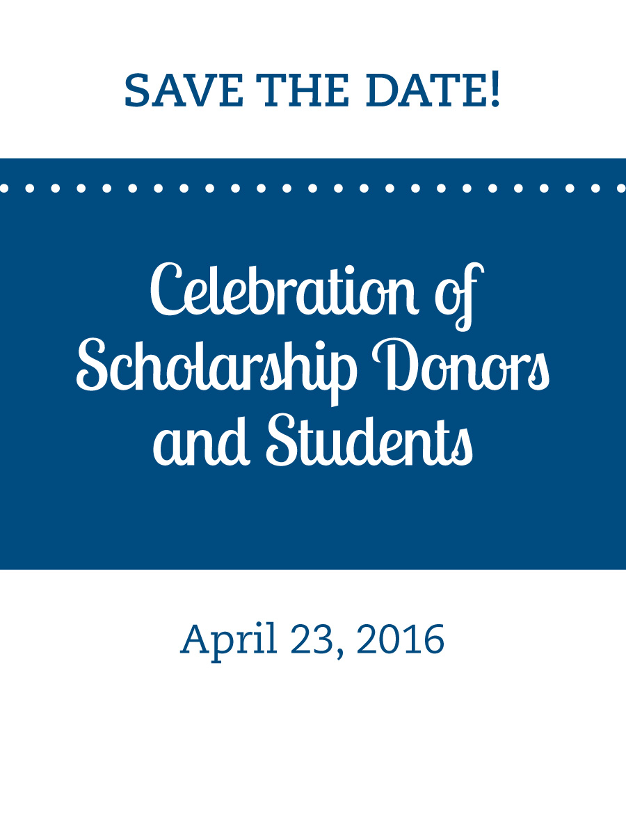 Bentley University celebration of donors save the date card large