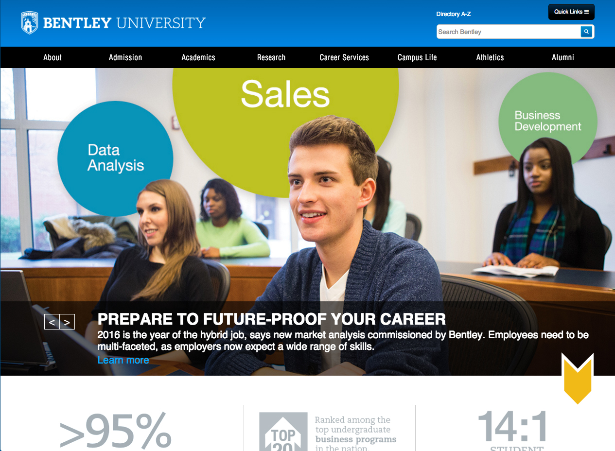 Bentley University homepage slider large