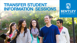 Bentley University transfer information session postcard thumb