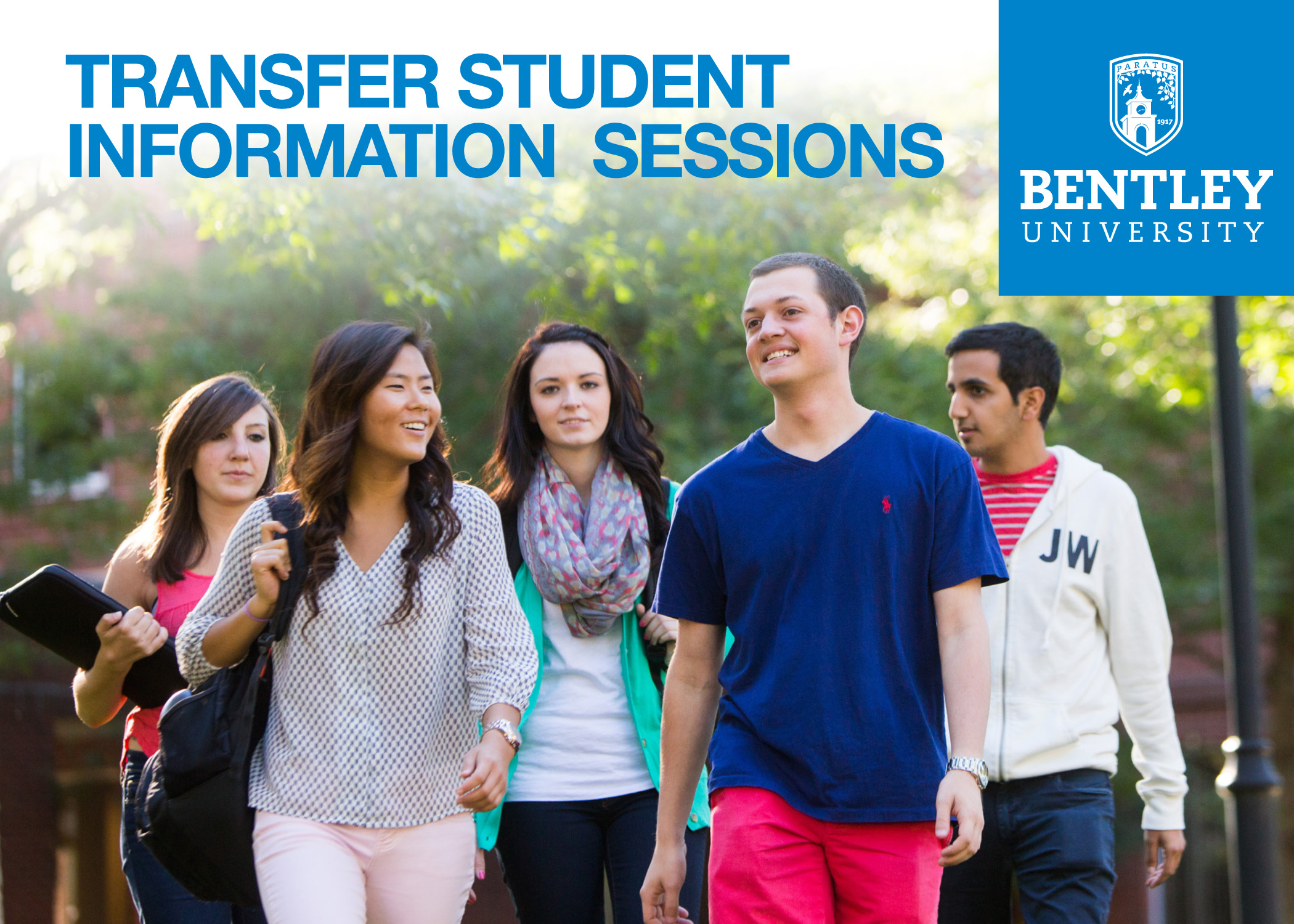 Bentley University transfer information session postcard large