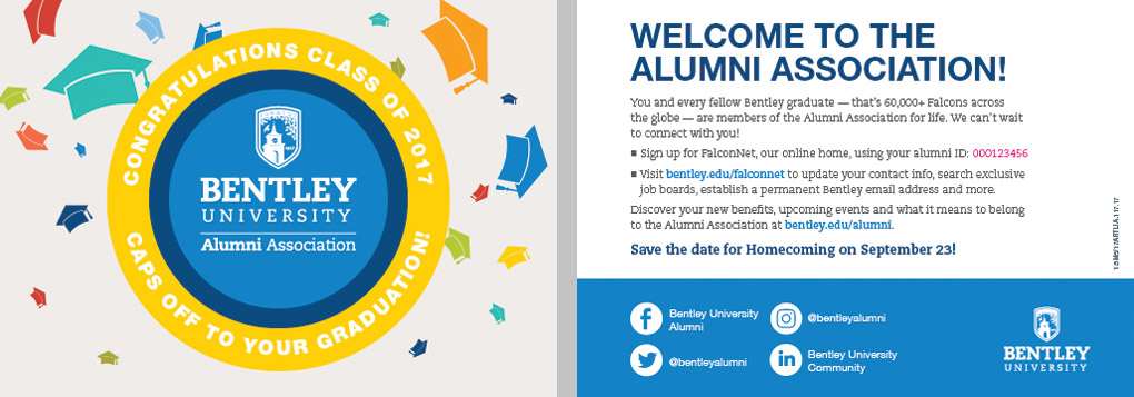 Bentley University Welcome to the Alumni Association large